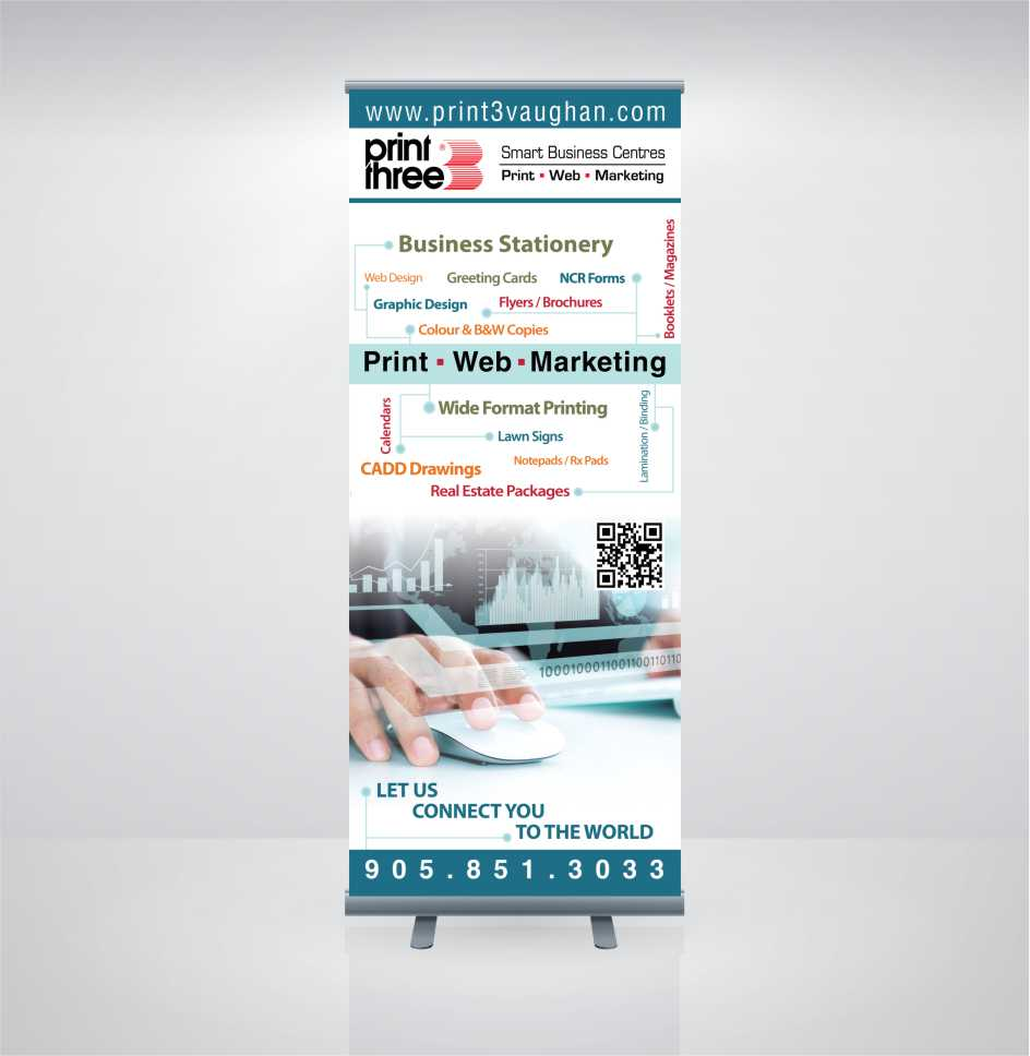 Print Three Stand-up Banner