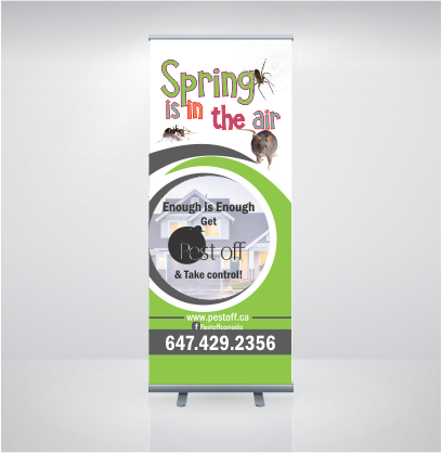 Graphic Plus Media- pest off banner print rollup