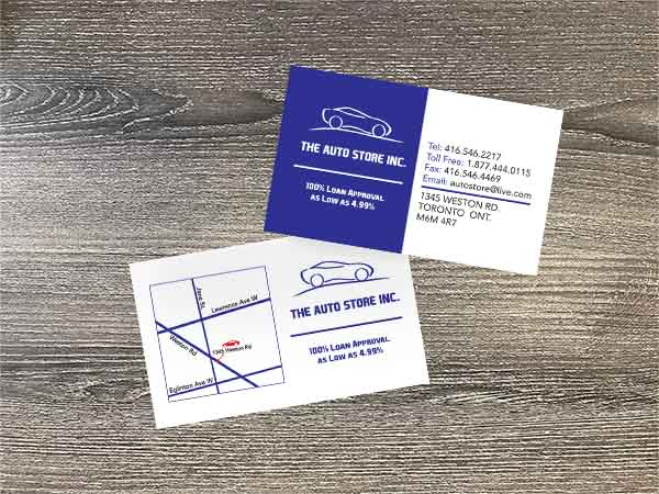 The Auto Store Business Cards